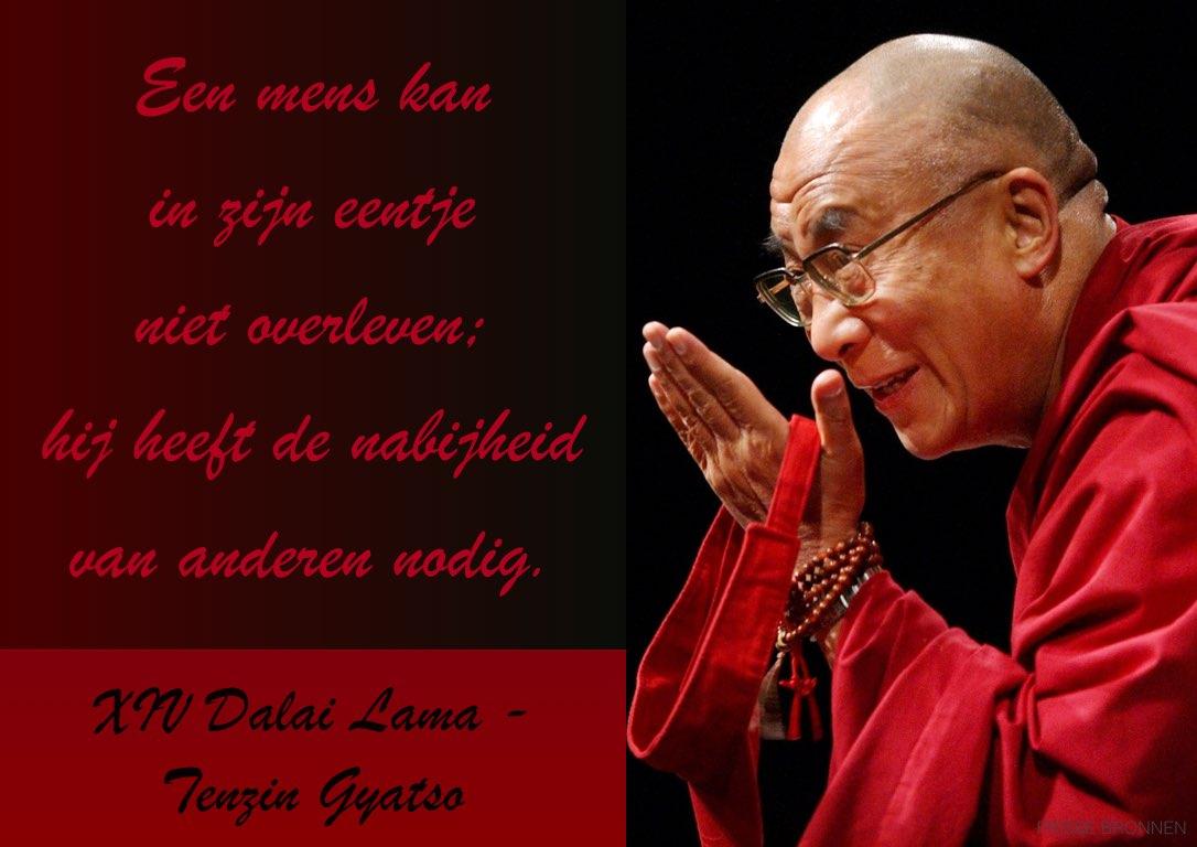 """Dalai Lama: """"Een mens kan in zijn eentje niet overleven. Hij heeft de nabijheid van anderen nodig."""""""