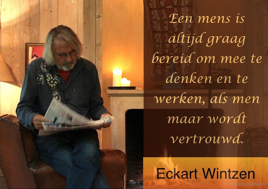 """Eckart Wintzen: """"Een mens is altijd graag bereid om mee te denken en te werken, als men maar wordt vertrouwd."""""""