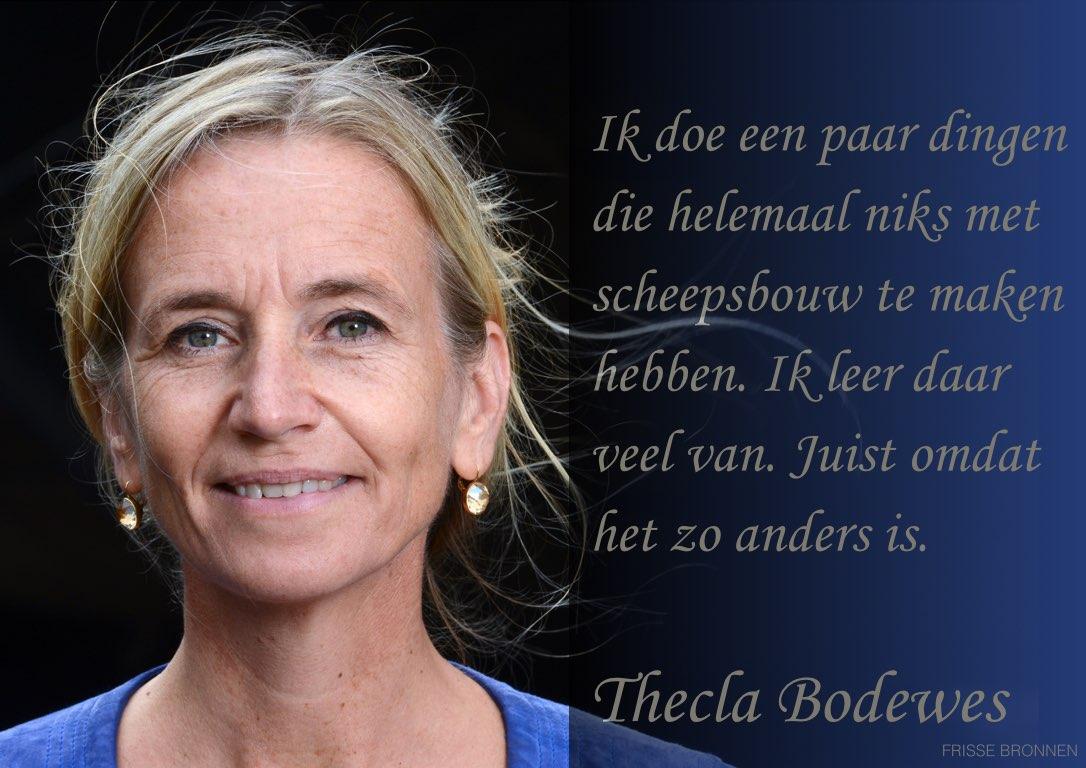 """Thecla Bodewes: """"Ik doe een paar dingen die helemaal niets met scheepsbouw te maken hebben. Ik leer daar veel van. Juist omdat het zo anders is."""""""